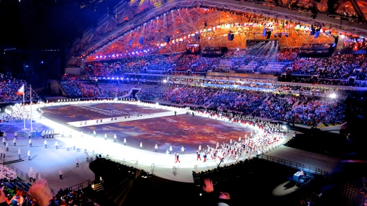 Team Russia's Grand Entrance